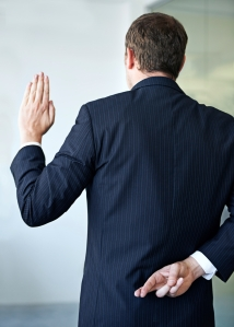 Cropped shot of a businessman crossing his fingers behind his back